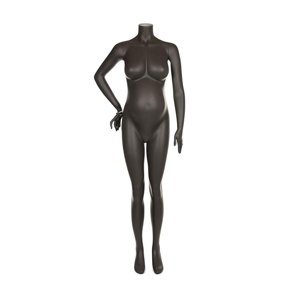 Mannequin femme enceinte qualité supérieure maternity couleur gris foncé (photo)
