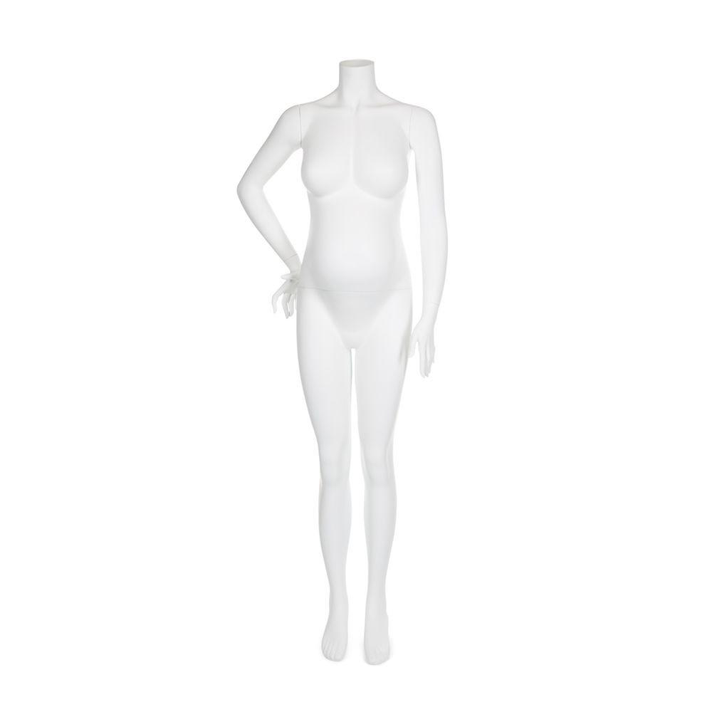 Mannequin femme enceinte qualité supérieure maternity coloris blanc (photo)