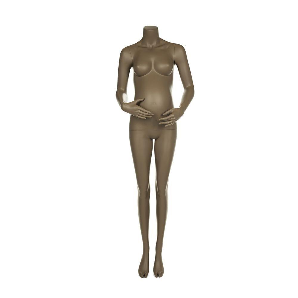 Mannequin femme enceinte qualité supérieure maternity coloris beige gris (photo)