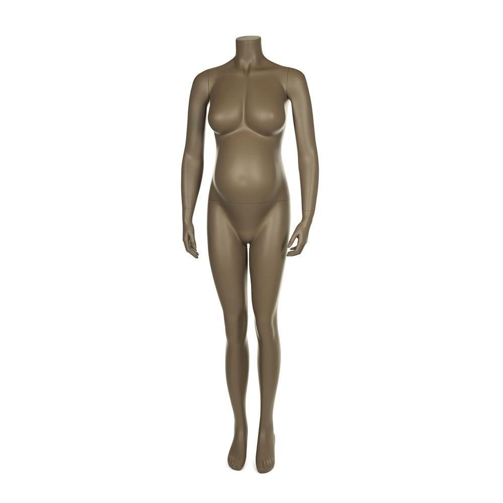 Mannequin femme enceinte qualité supérieure maternity beige gris (photo)