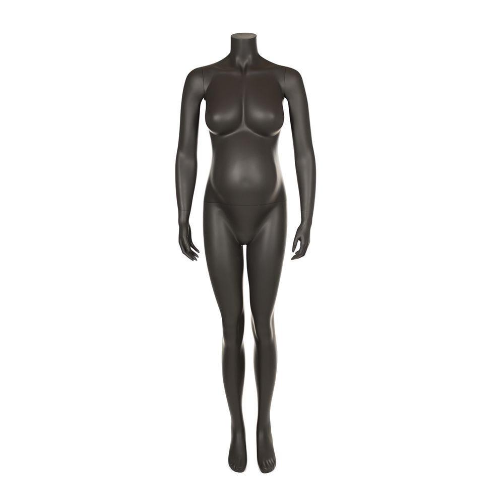 Mannequin femme enceinte qualité supérieure maternity gris foncé (photo)