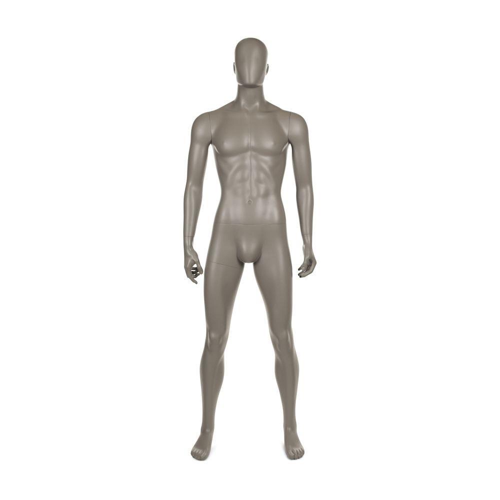 Mannequin homme qualité frp couleur taupe mat (photo)