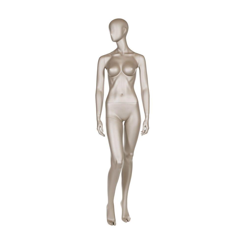 Mannequin femme qualité frp couleur bronze métallique mat (photo)