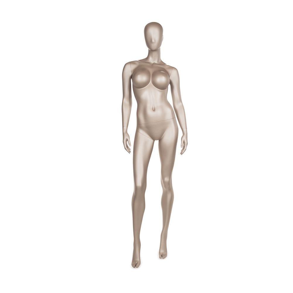 Mannequin femme qualité frp de couleur bronze métallique mat (photo)