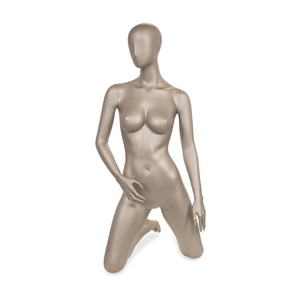 Mannequin femme qualité frp en couleur bronze métallique mat (photo)