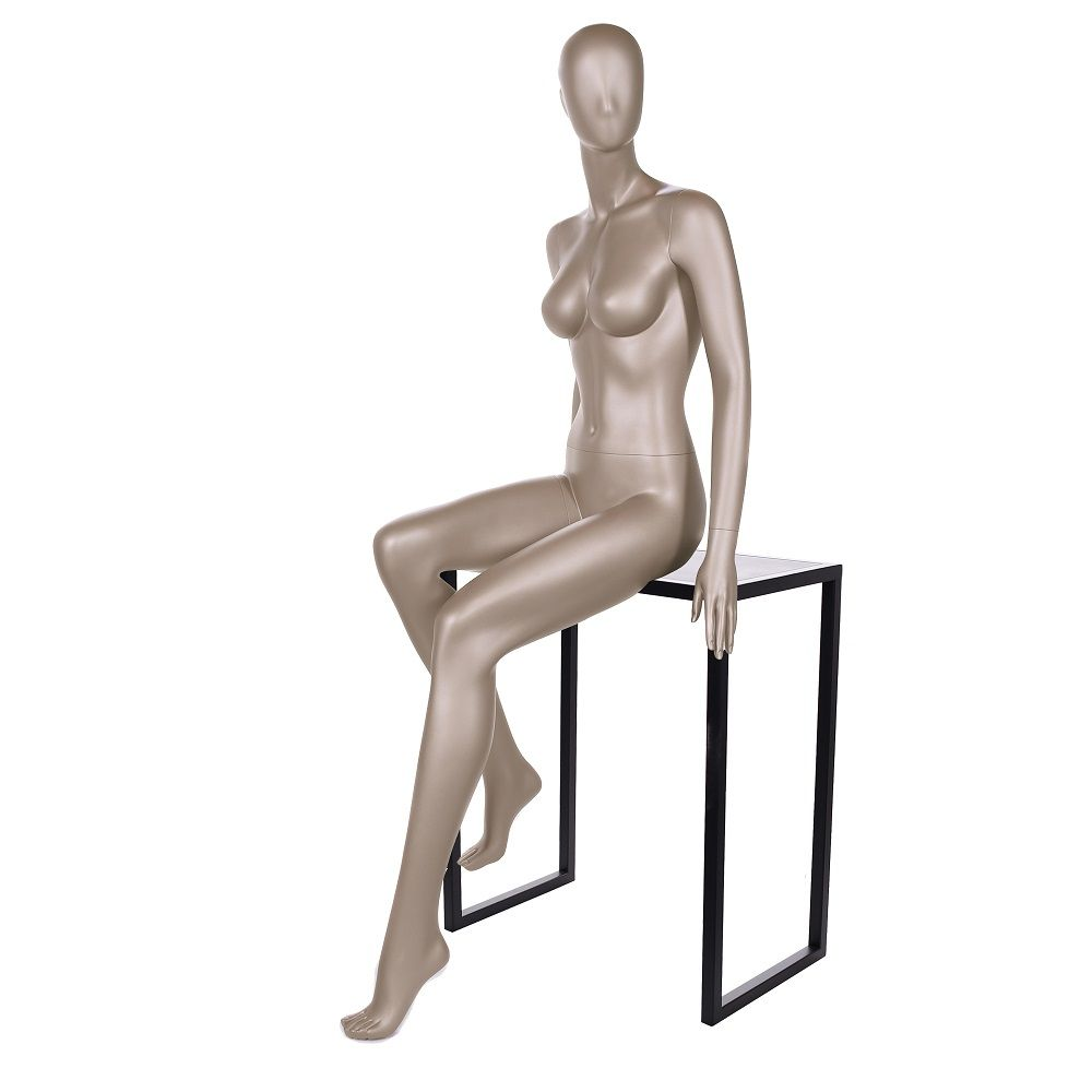 Mannequin femme qualité frp bronze métallique mat (photo)