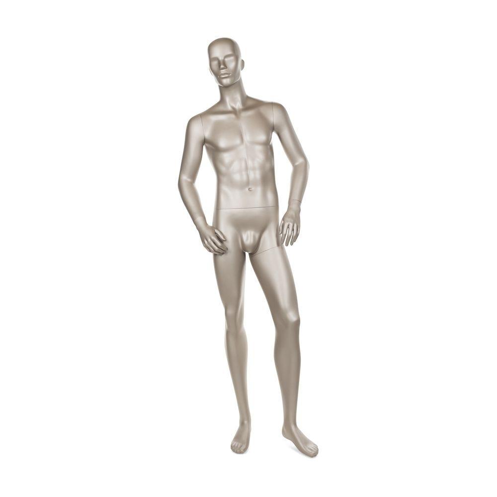 Mannequin homme qualité frp couleur bronze métallique mat (photo)