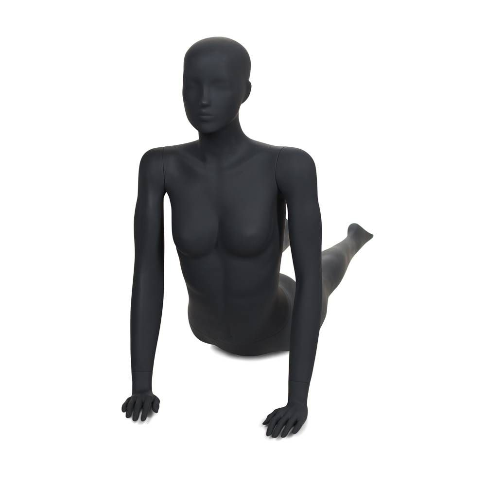 Mannequin de sport femme qualité frp gris graphite ral 7025 (photo)