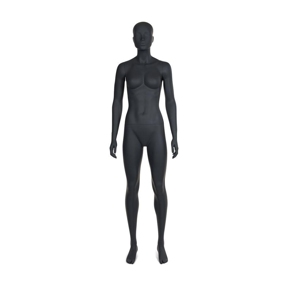 Mannequin de sport femme qualité frp gris graphite ral 7027 (photo)