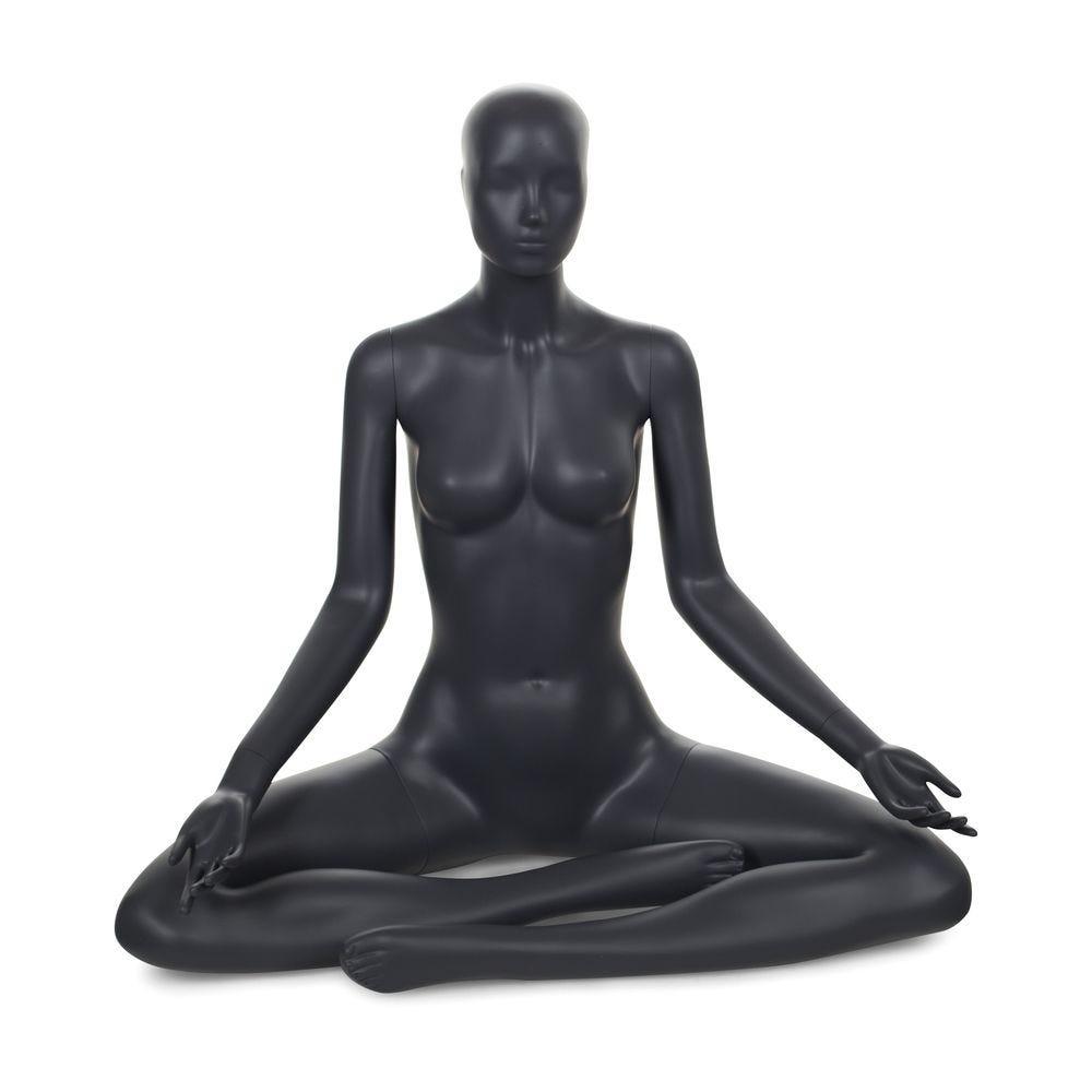 Mannequin femme tête abstraite yoga couleur gris graphite (photo)