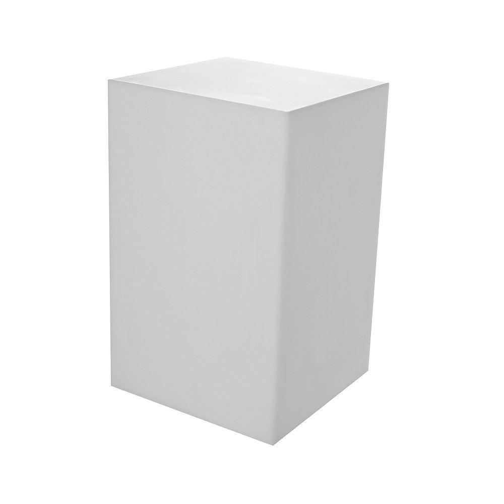 Cube coloris blanc opale en pvc 38 x 38 cm et hauteur 63 cm (photo)