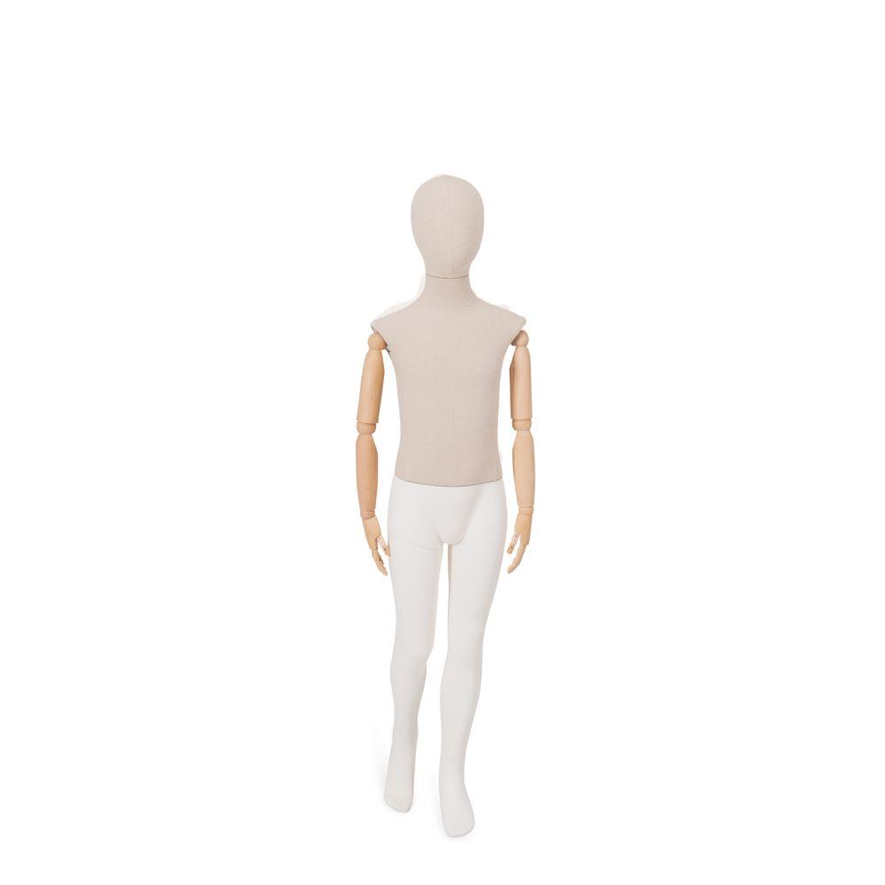 Mannequin enfant abstrait 8 ans torse tissu jambes bras amovibles (photo)