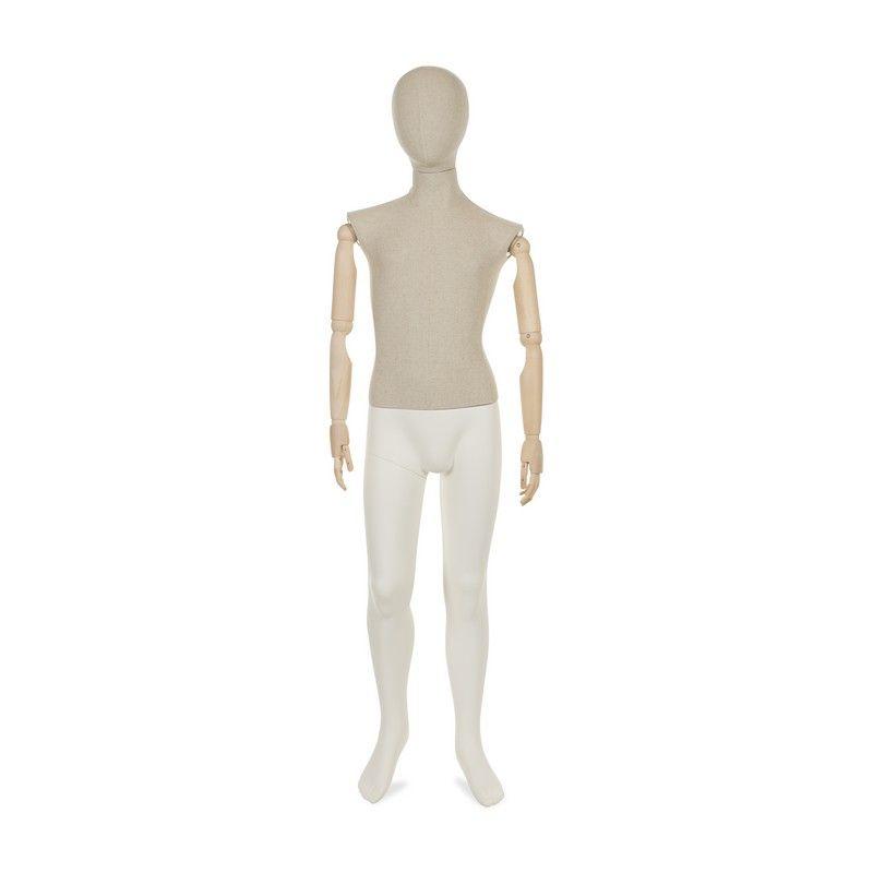 Mannequin enfant abstrait 12 ans torse tissu jambes bras amovibles (photo)