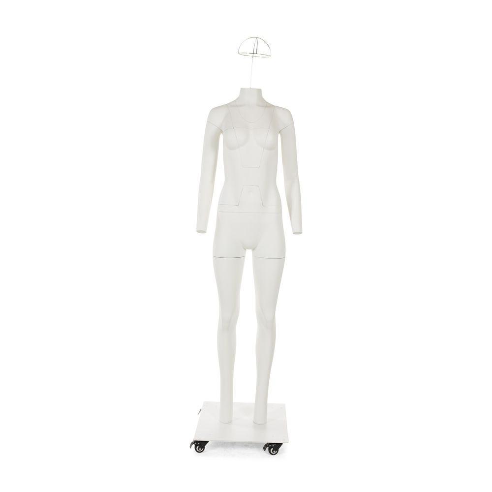 Mannequin de vitrine femme sans tête pour photographie couleur blanc mat (photo)