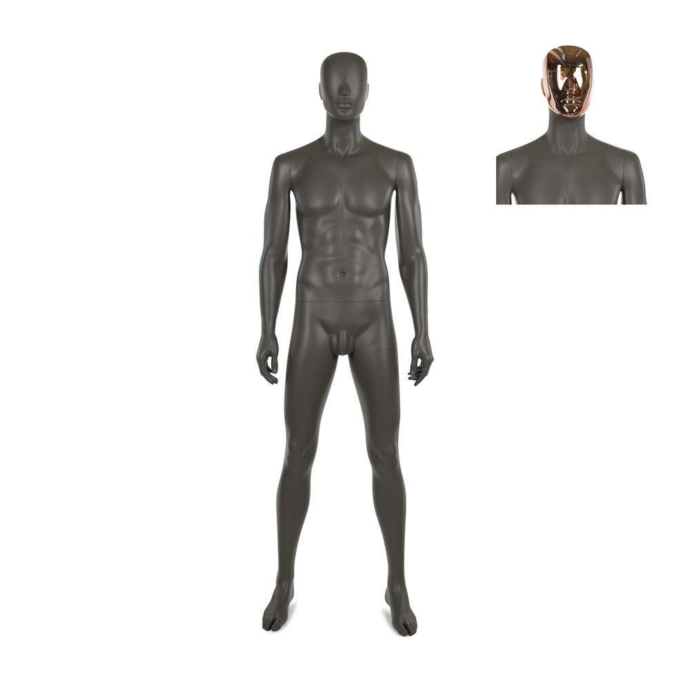 Mannequin homme, frp, café doré mat, incl. 2 masques (photo)