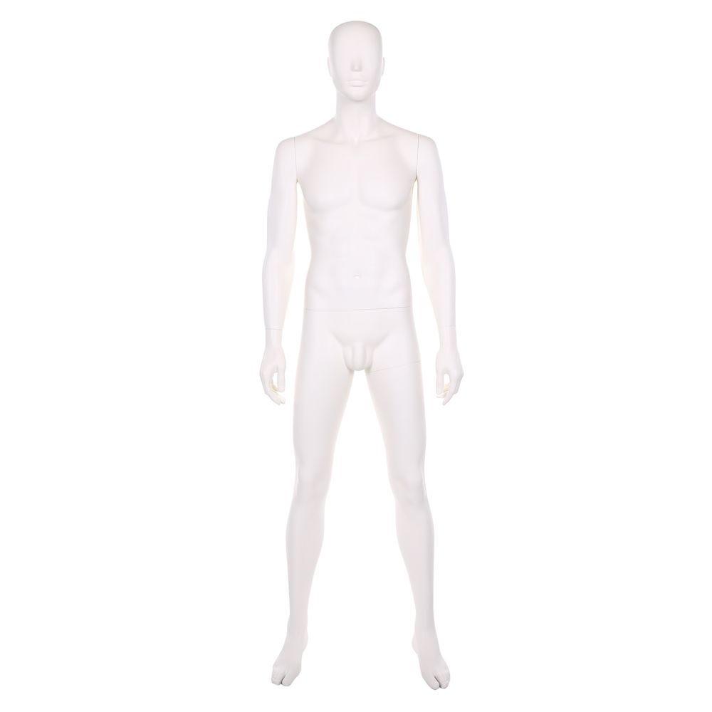 Mannequin homme, frp, blanc ivoire, incl. 1 masque + base blanc et tiges (photo)