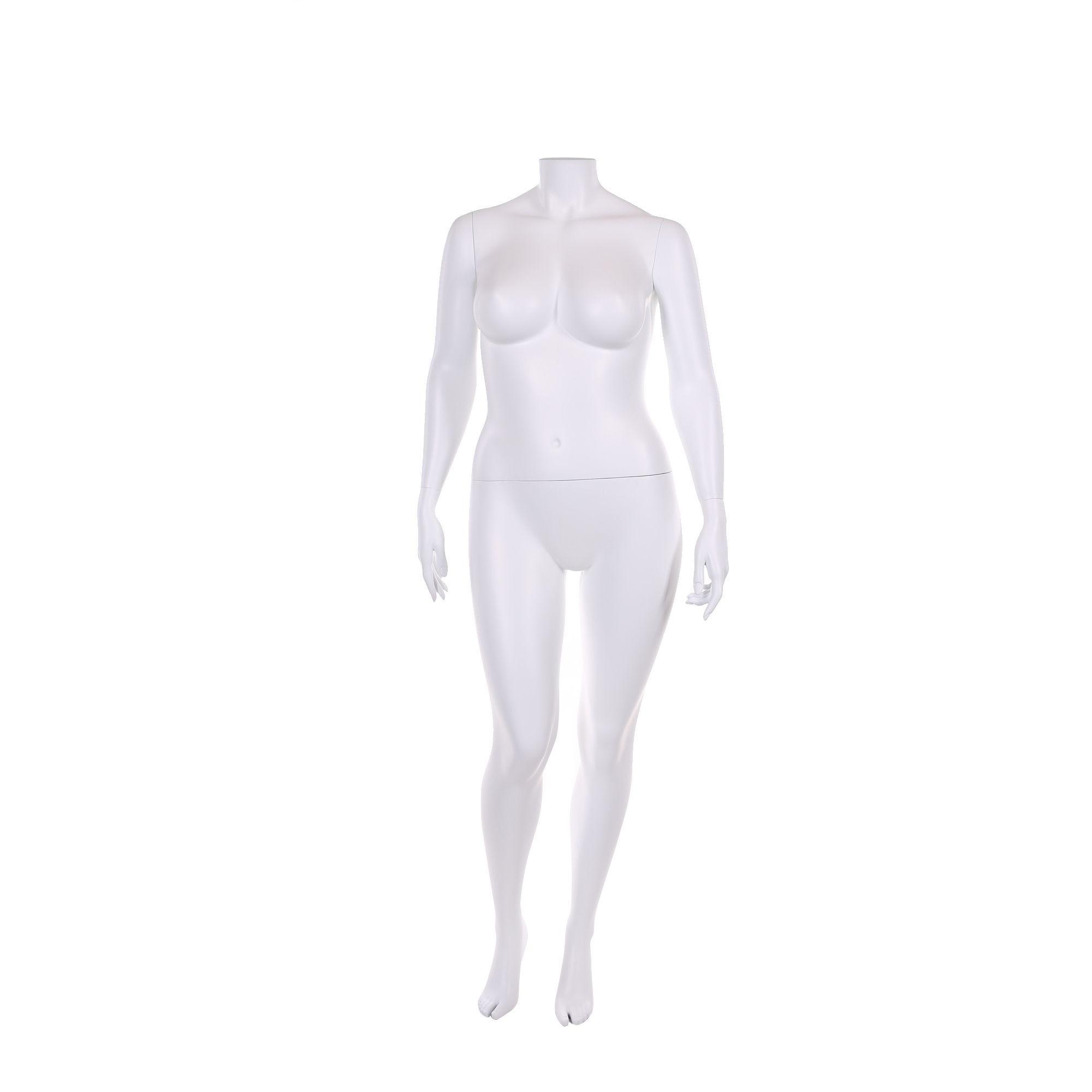Mannequin femme, xl, sans tête, frp couleur blanc, incl. Socle et tiges (photo)