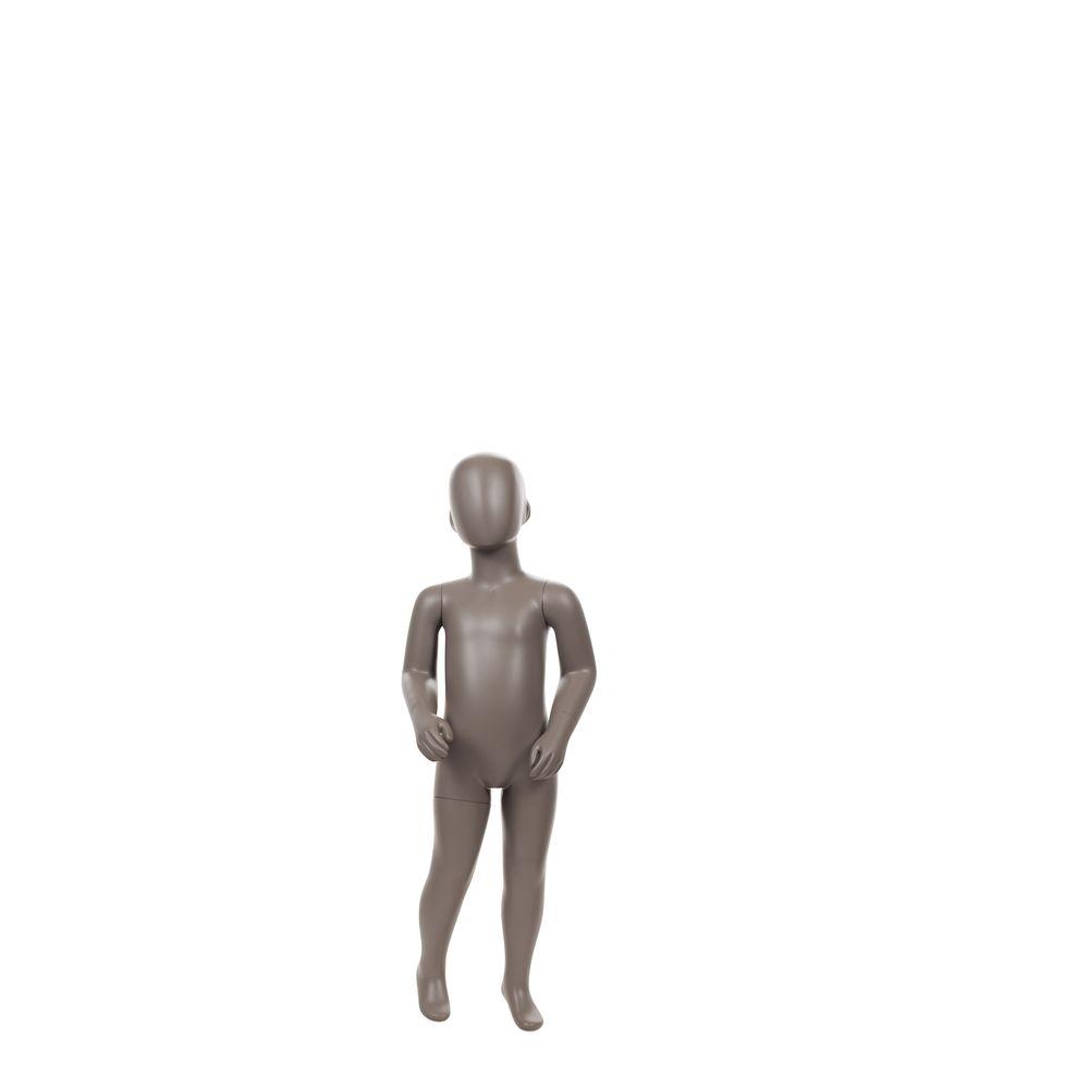 Mannequin enfant abstrait, 2 ans, taupe mat, incl. Socle et tiges (photo)