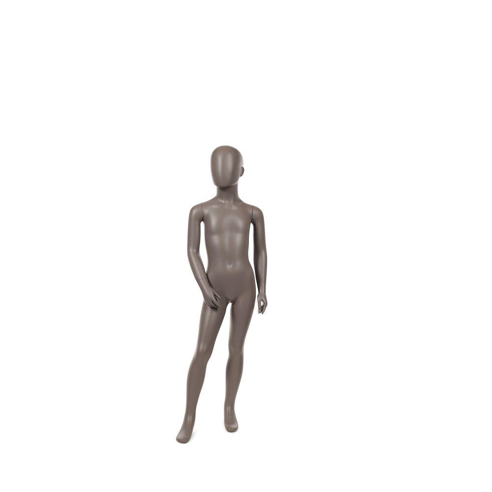 Mannequin enfant abstrait, 6 ans, taupe mat, incl. Socle et tiges (photo)