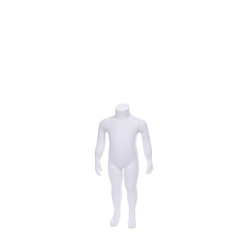Mannequin enfant sans tête, 18 - 24 mois, blanc, incl. Socle et tiges (photo)
