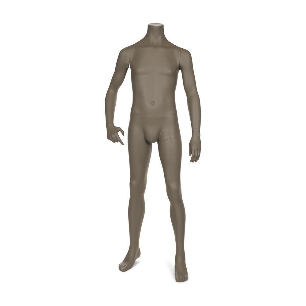 Mannequin garçon sans tête, 12 ans, beige gris mat, incl. Socle et tiges (photo)