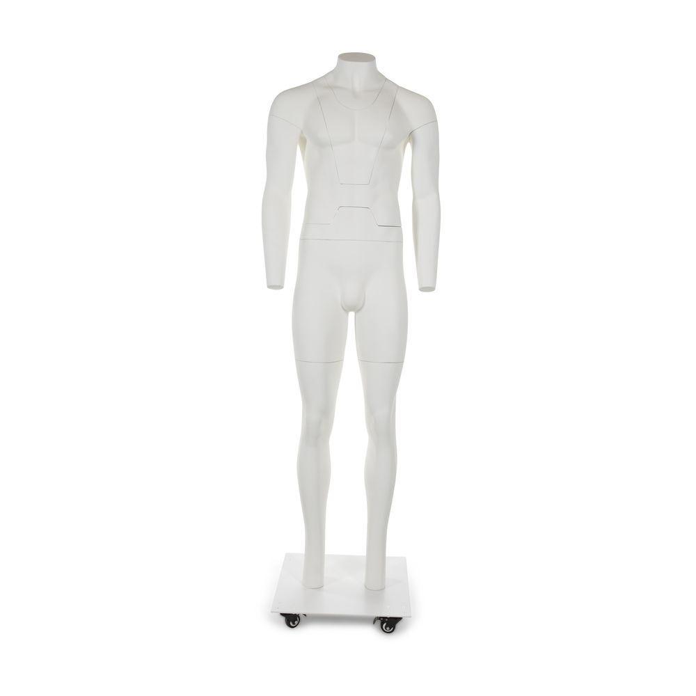 Mannequin homme, photographie produit, blanc, aimantées, inclus socle et tige (photo)