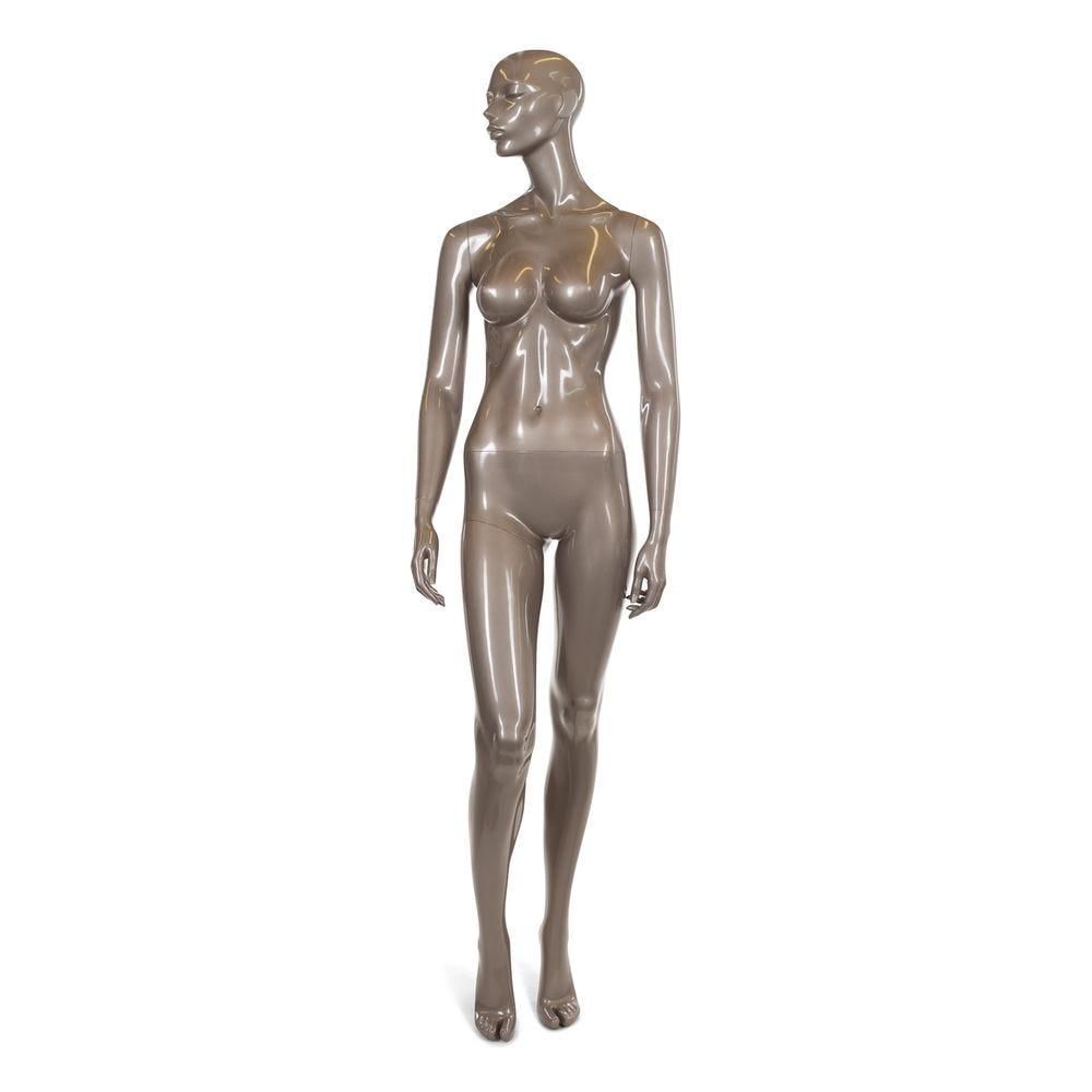 5d6a517d39db0 Mannequin femme abstrait, bonnet b, bronze brillant, incl. Socle et tiges (