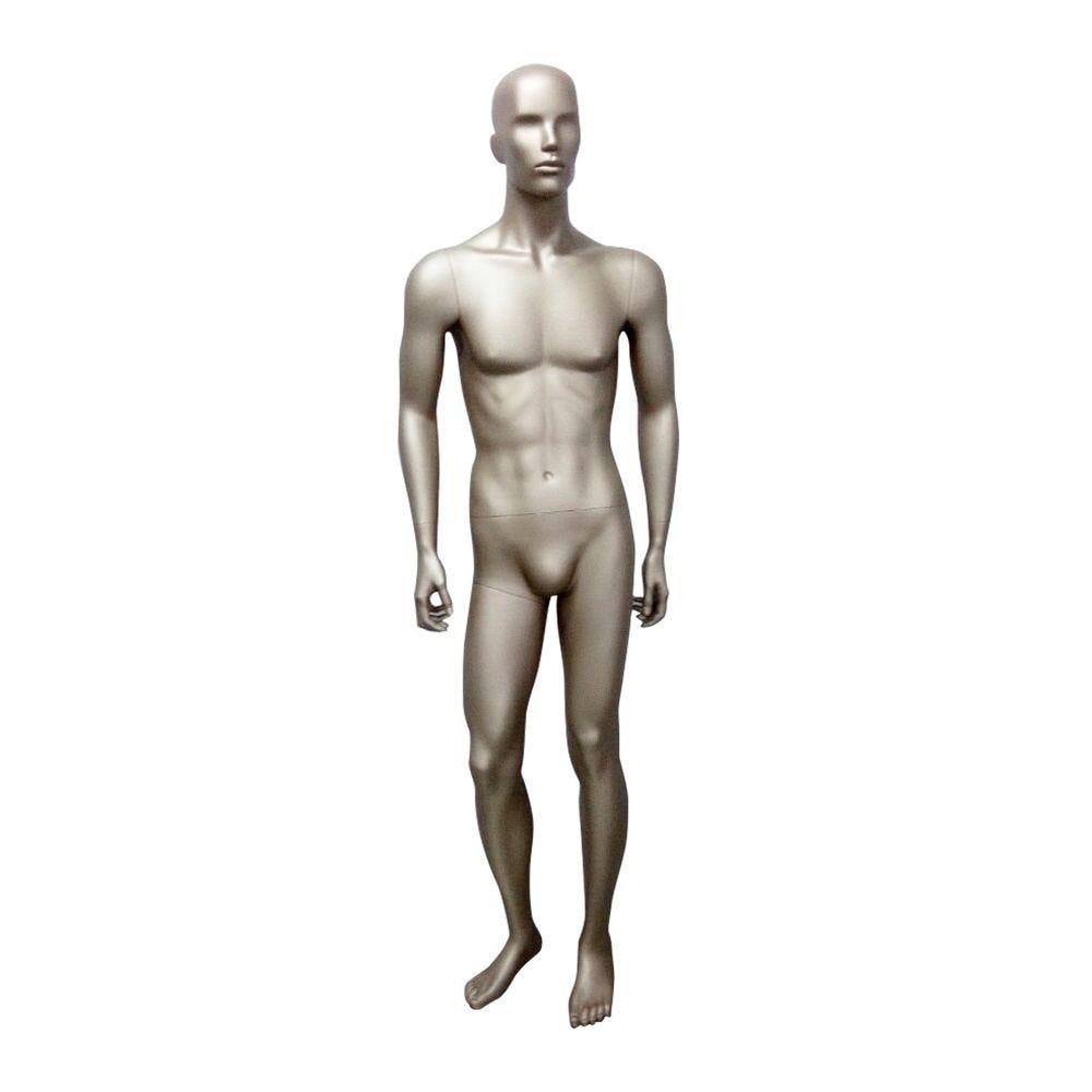 Mannequin homme abstrait, chair métallique - mat, incl. Socle et tiges (photo)