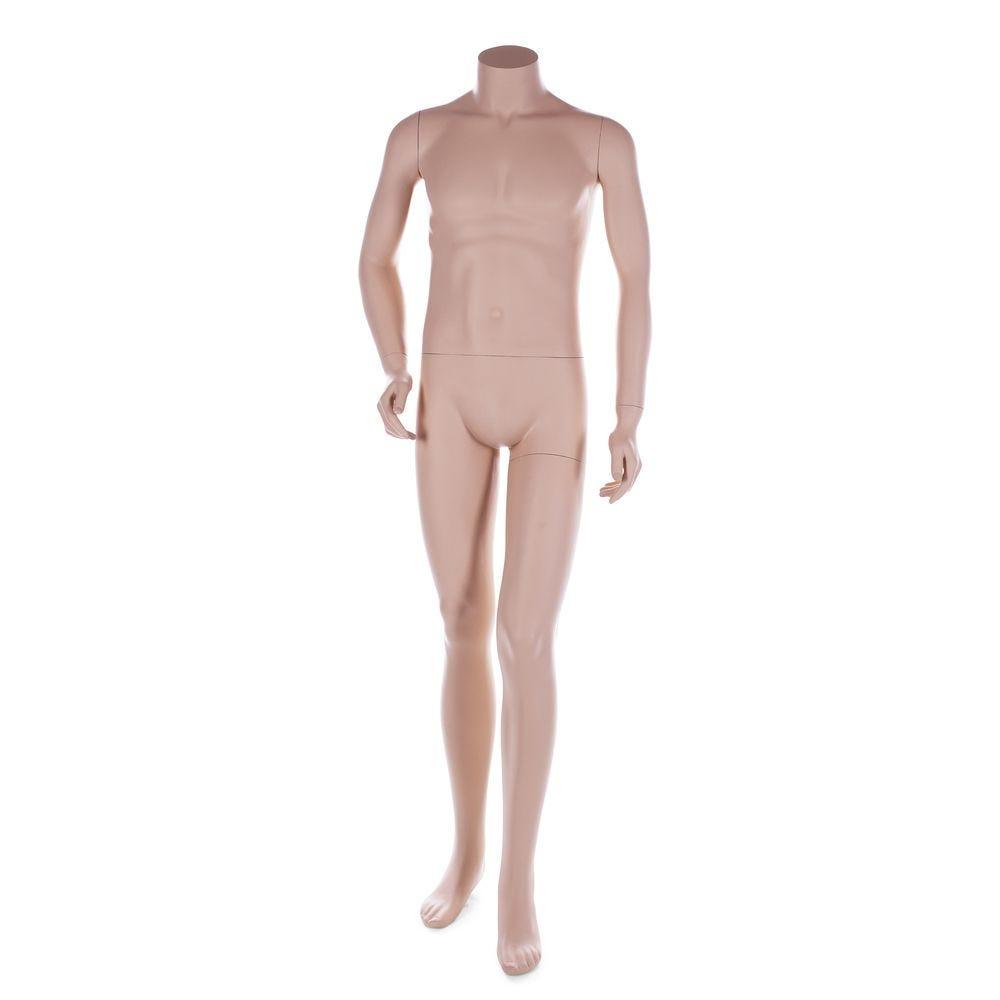 Mannequin homme sans tête, couleur chair, incl. Socle et tiges (photo)