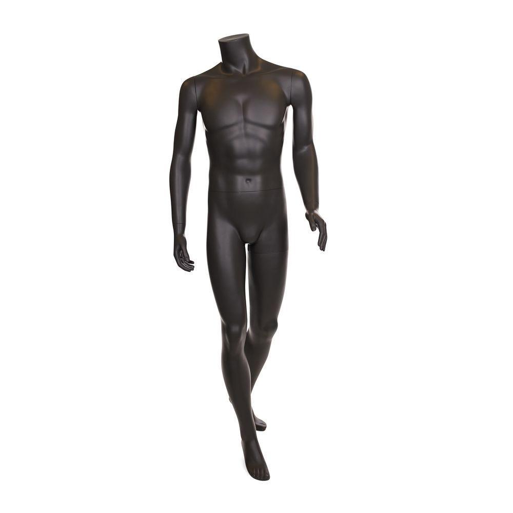 Mannequin homme sans tête, gris umbra mat, incl. Socle et tiges (photo)