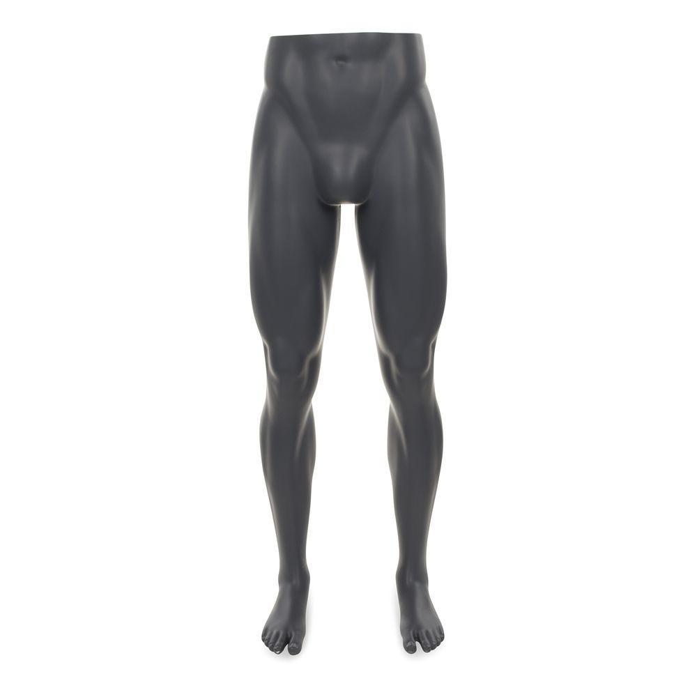 Présentoir pour pantalon homme, gris graphite, incl. Socle et tiges modèle 1 (photo)