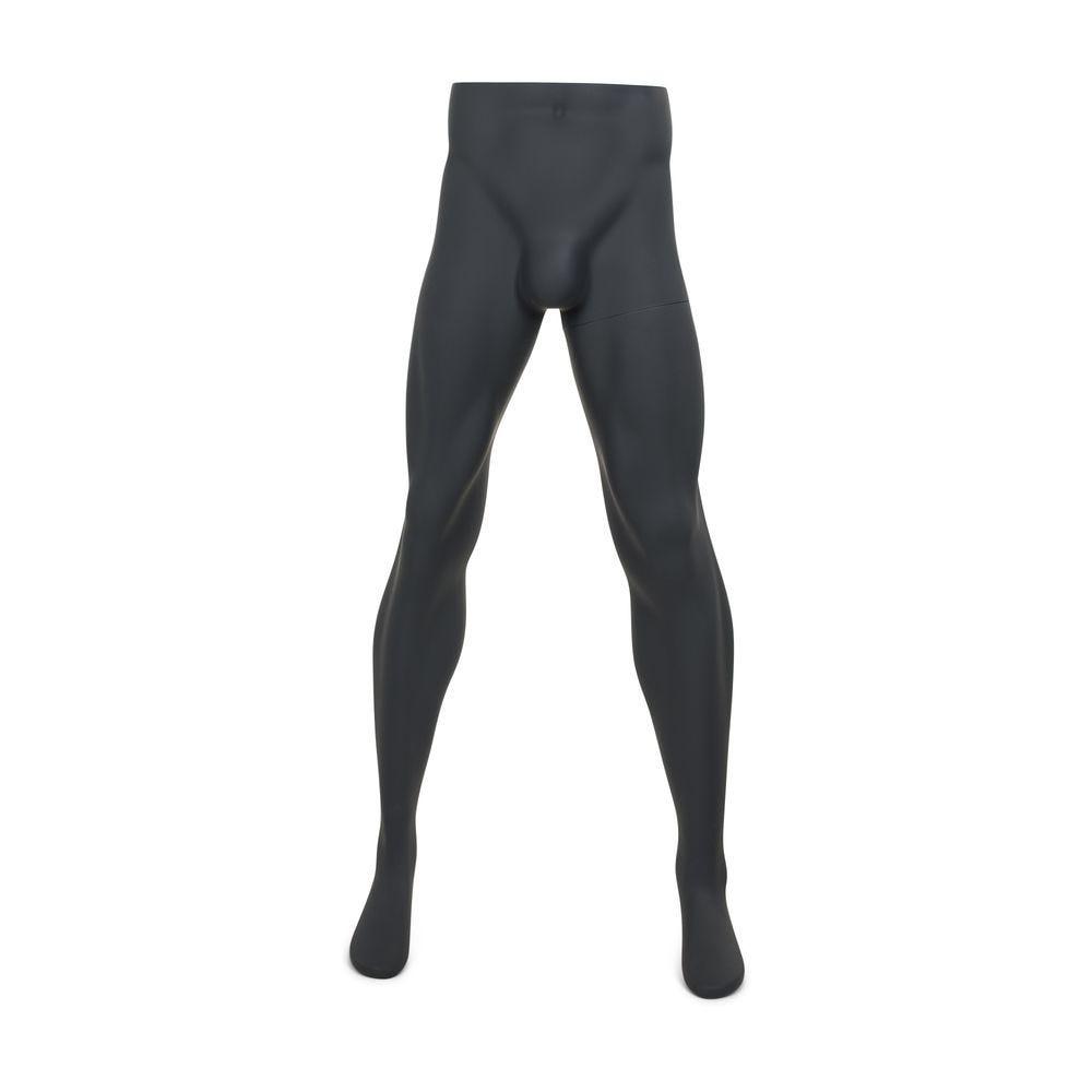 Présentoir pour pantalon homme, gris graphite, incl. Socle et tiges modèle 2 (photo)