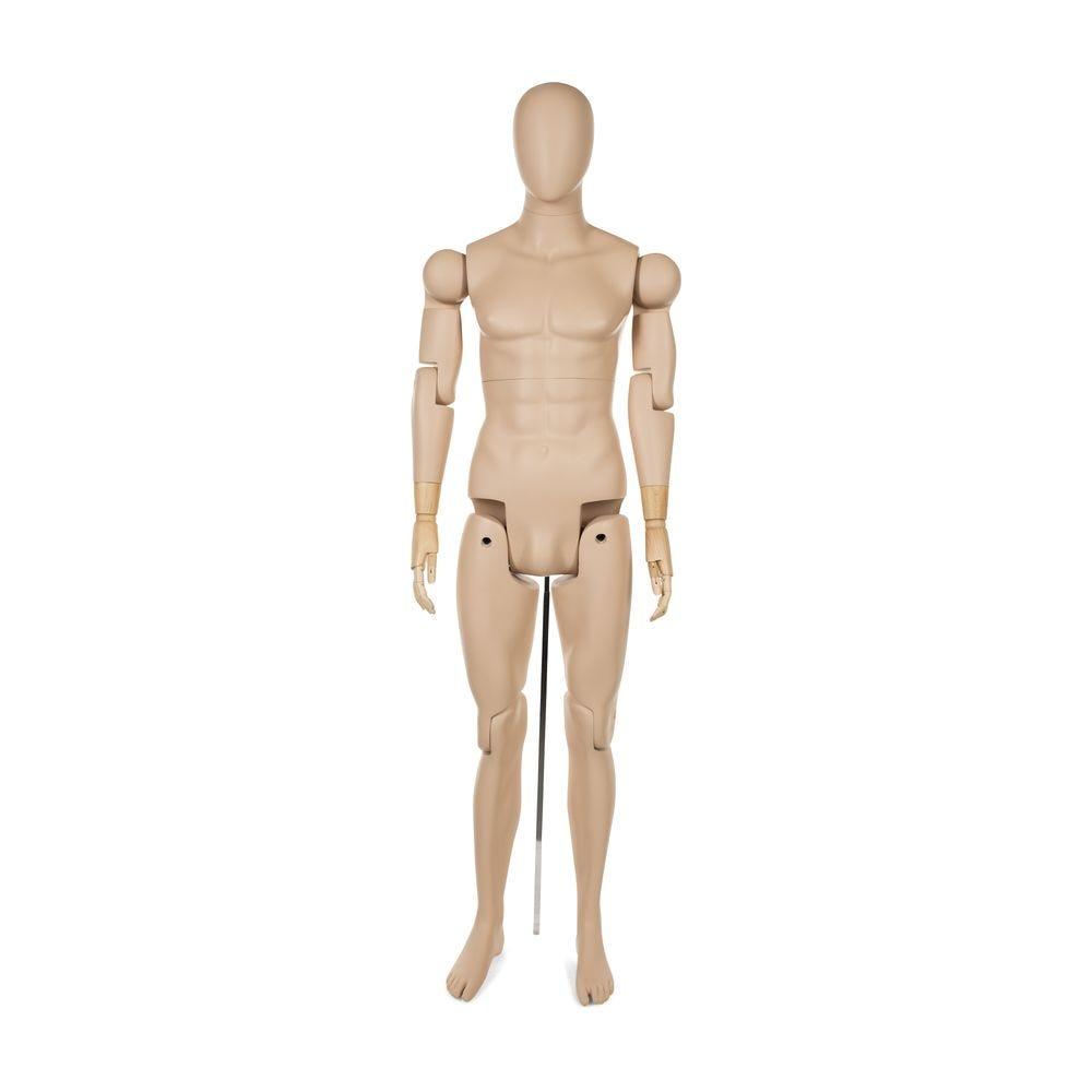 Mannequin homme abstrait, amovible, couleur chair, incl. Socle et tiges (photo)