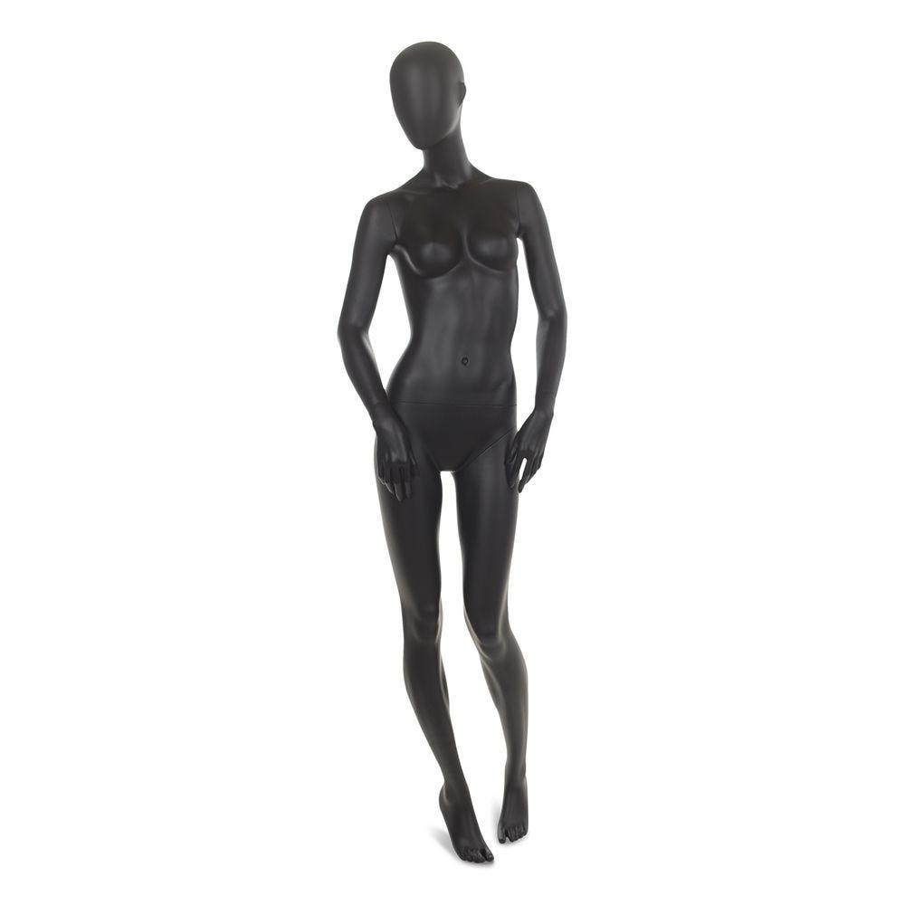 Mannequin femme abstrait, couleur noir mat, incl. Socle et tiges a (photo)