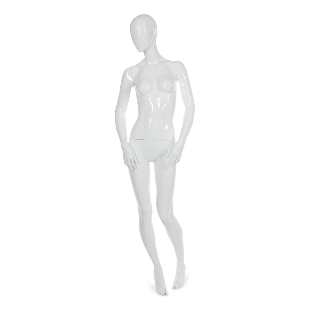 Mannequin femme abstrait, couleur blanc brillant, incl. Socle et tiges a (photo)