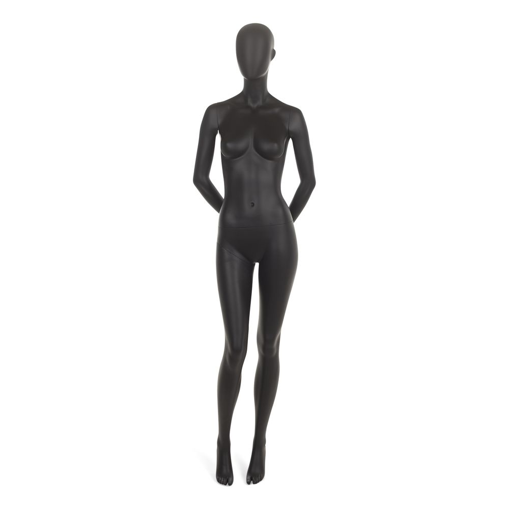 Mannequin femme abstrait, couleur noir mat, incl. Socle et tigesd (photo)