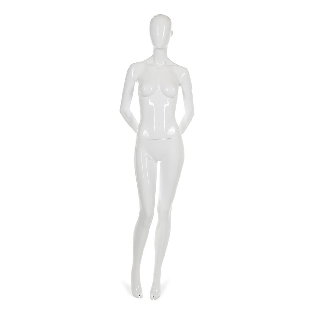 Mannequin femme abstrait, couleur blanc brillant, incl. Socle et tiges d (photo)
