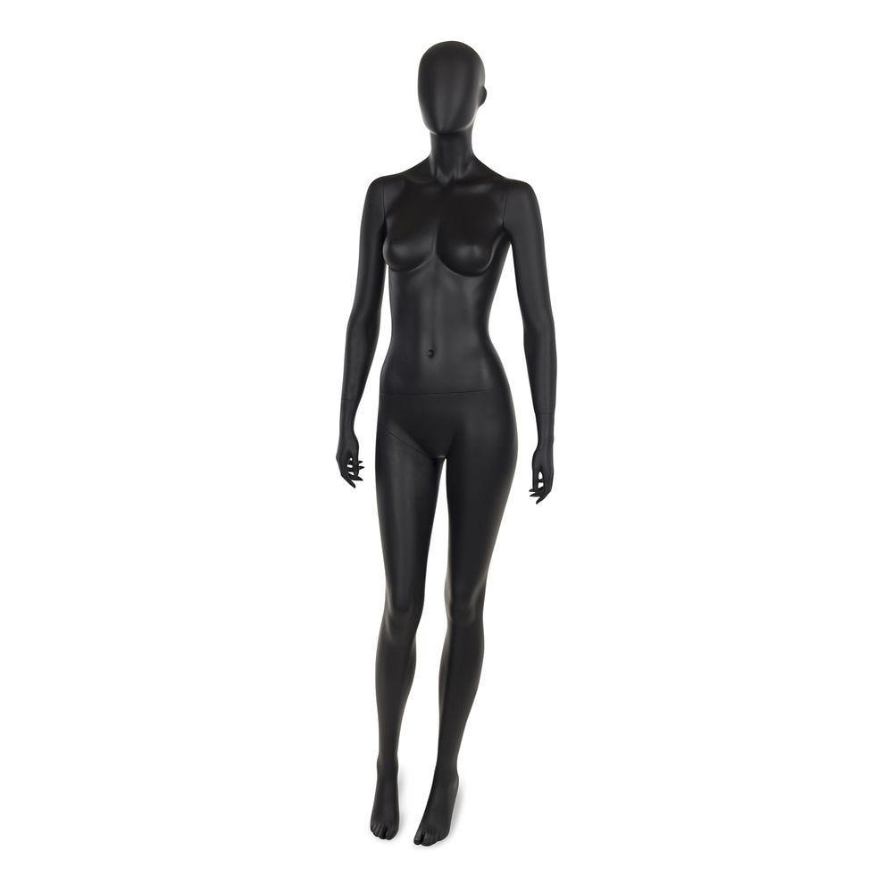 Mannequin femme abstrait, couleur noir mat, incl. Socle et tiges e (photo)