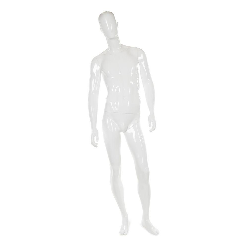 Mannequin homme abstrait, couleur blanc brillant, incl. Socle et tiges a (photo)
