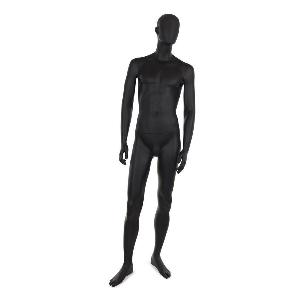 Mannequin homme abstrait, couleur noir mat, incl. Socle et tiges b (photo)