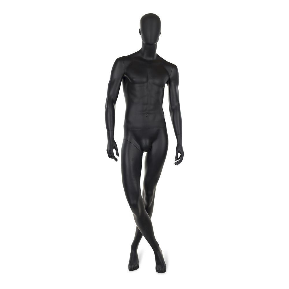 Mannequin homme abstrait, couleur noir mat, incl. Socle et tiges c (photo)