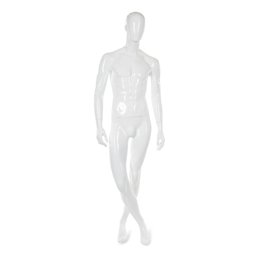 Mannequin homme abstrait, couleur blanc brillant, incl. Socle et tiges c (photo)