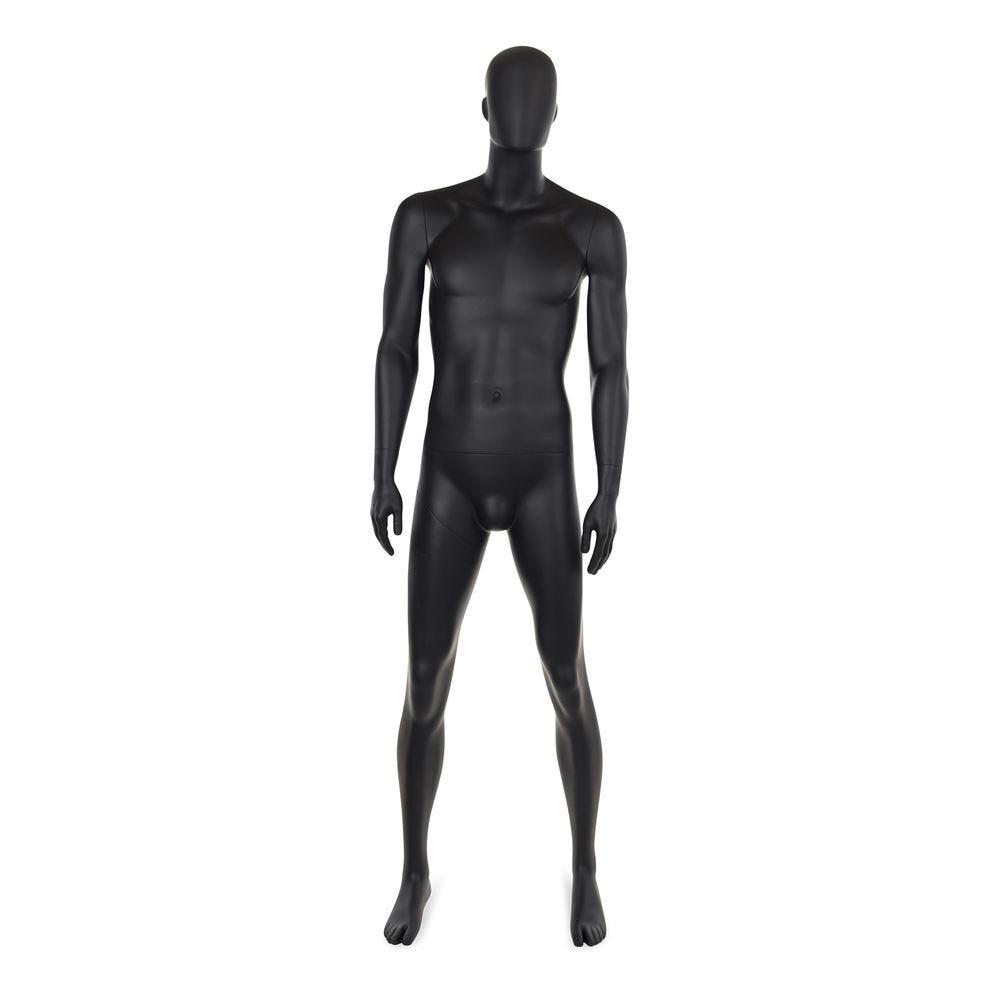 Mannequin homme abstrait, couleur noir mat, incl. Socle et tiges d (photo)