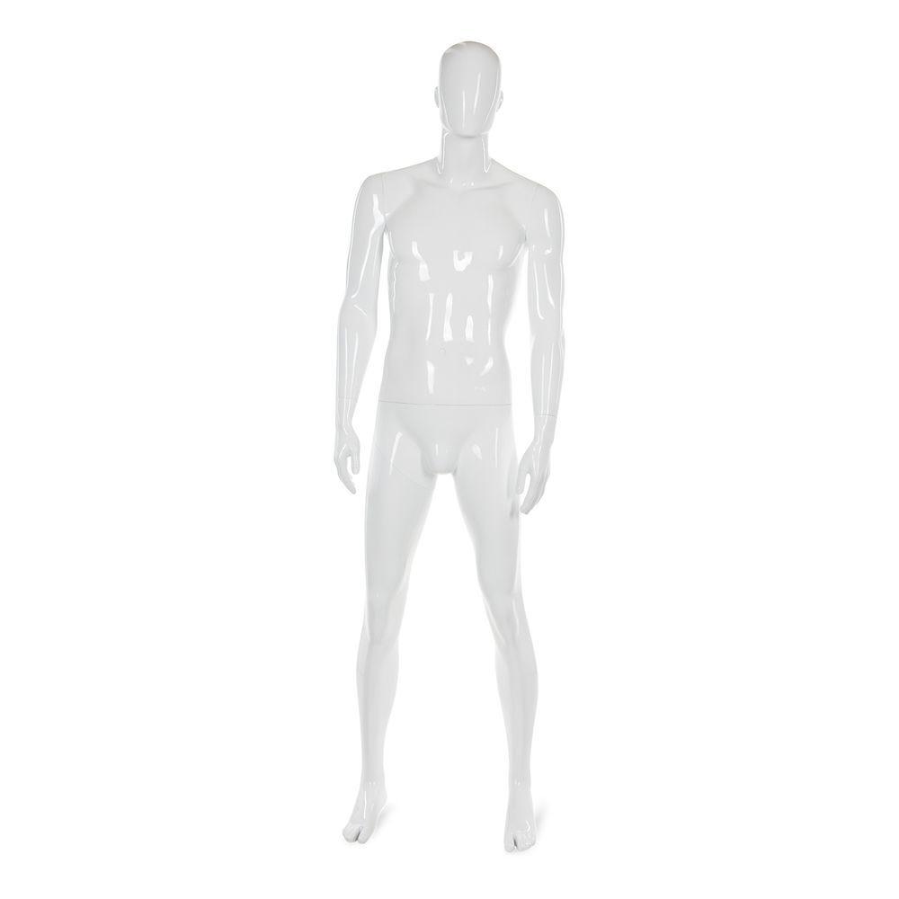 Mannequin homme abstrait, couleur blanc brillant, incl. Socle et tiges d (photo)