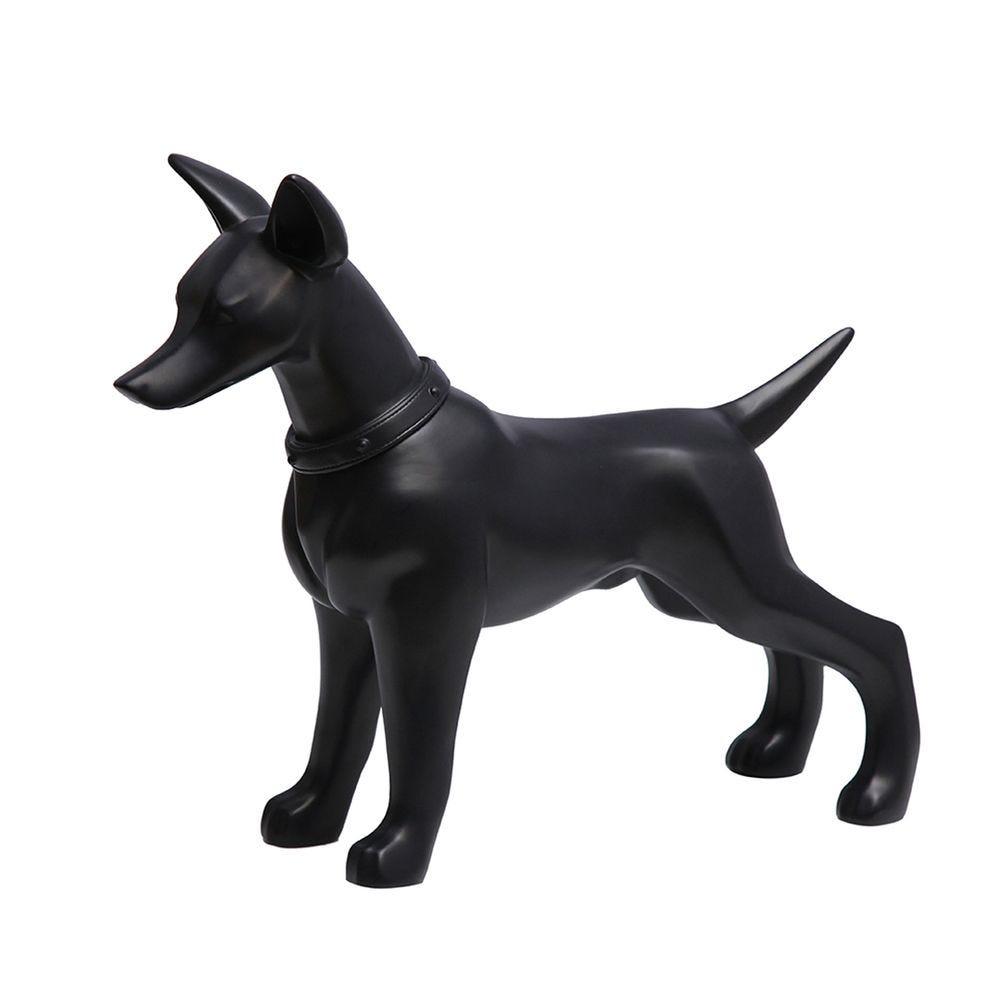 Chien, fabriqué en plastique, couleur noir mod.a (photo)