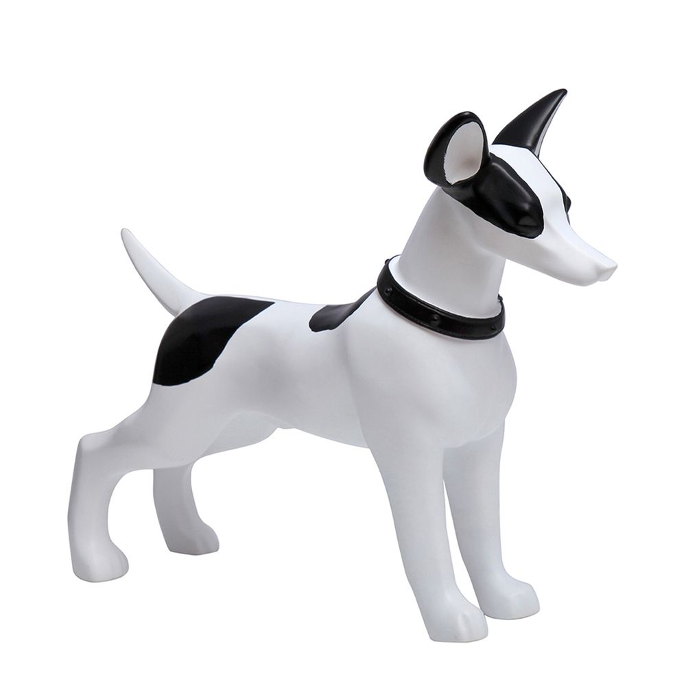 Chien, fabriqué en plastique, couleur blanc et noir (photo)