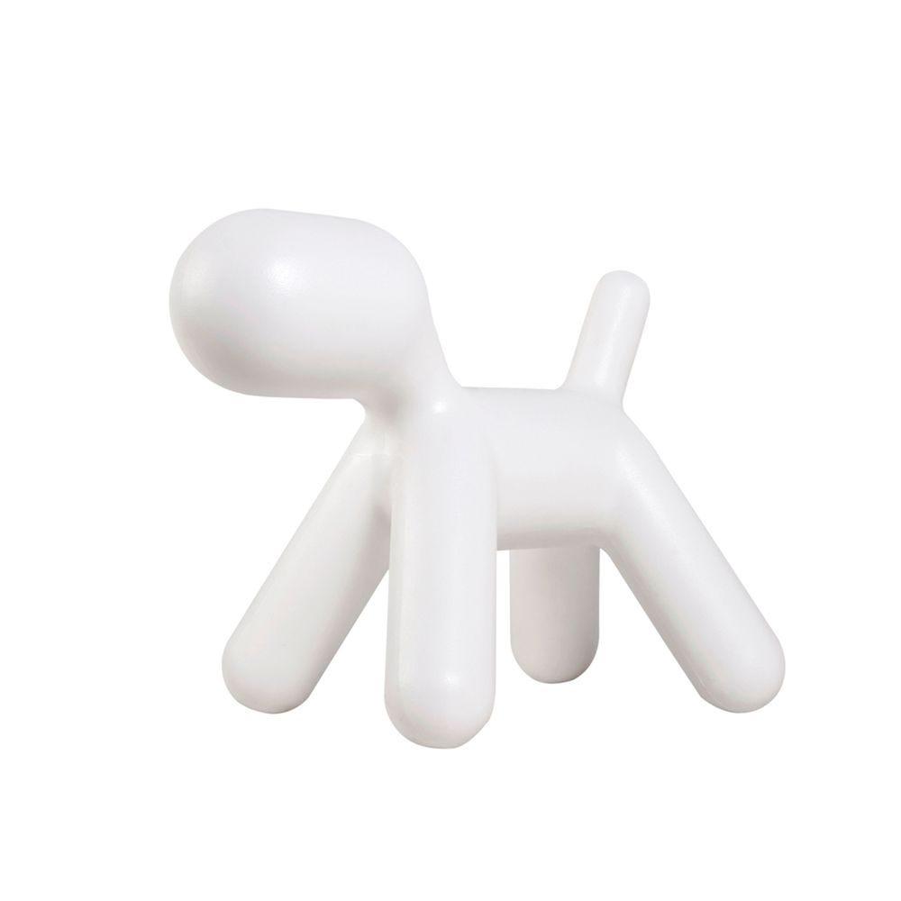 Chien, fabriqué en plastique, couleur blanc mod.a (photo)