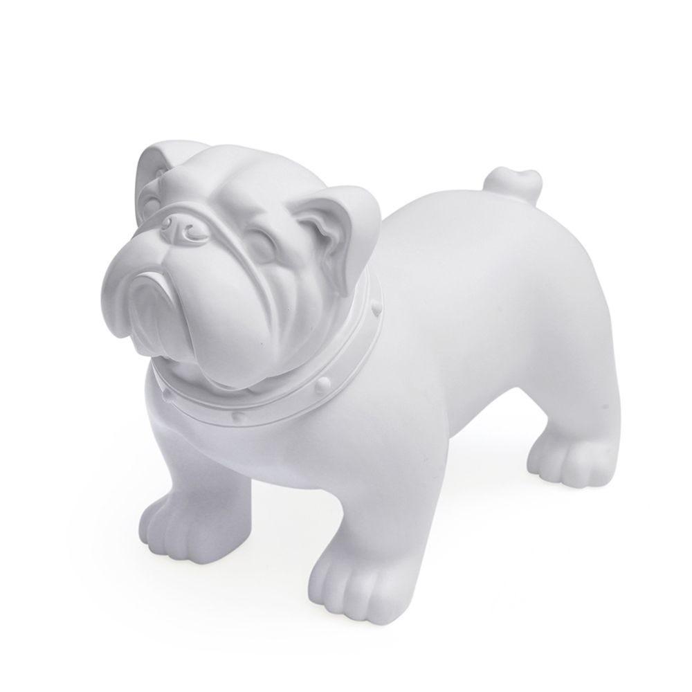 Chien, fabriqué en plastique, couleur blanc mod.b (photo)