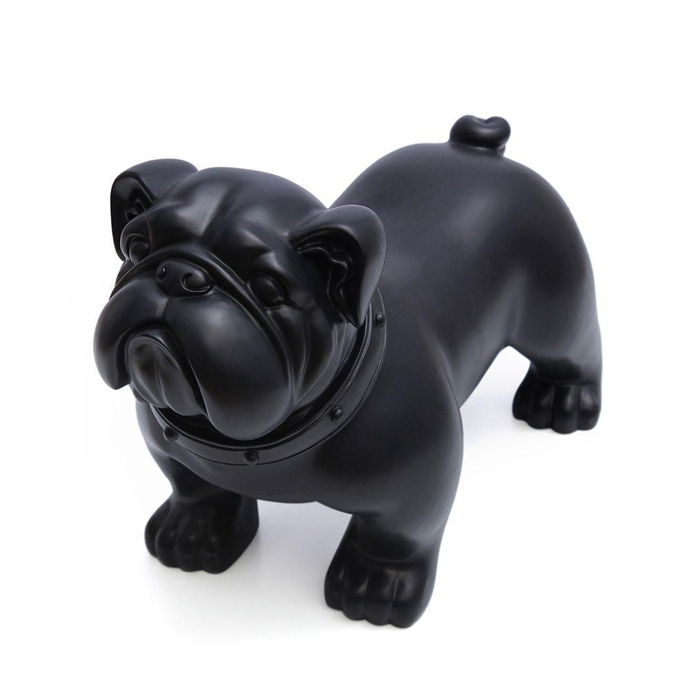 Chien, fabriqué en plastique, couleur noir mod.b (photo)