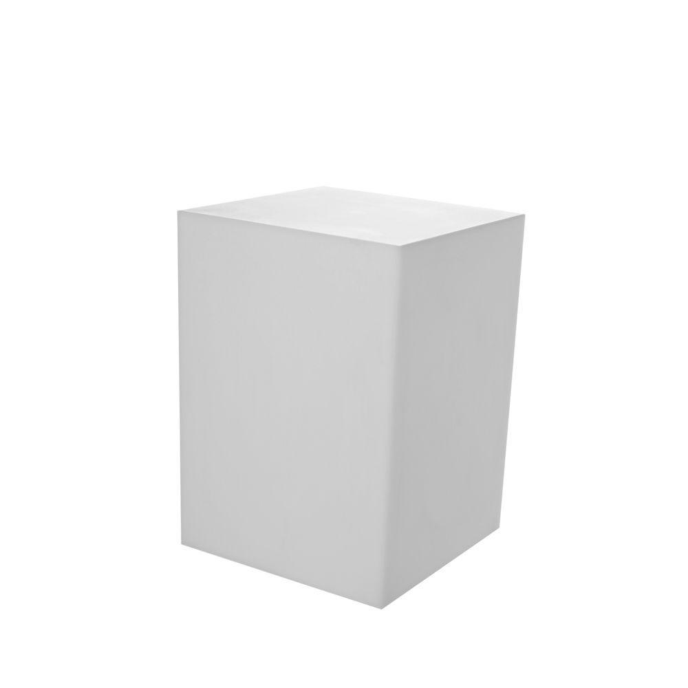 Présentoir support pour mannequin, cube pvc blanc 39 x 39 x 50 cm